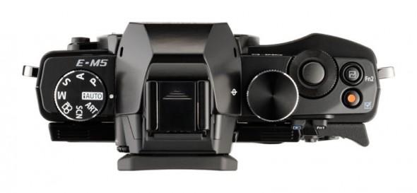 Olympus OM-D E-M5 MFT digital camera - black - top