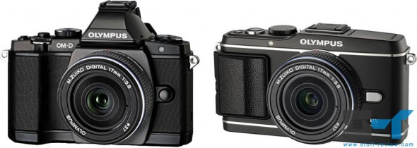 Olympus OM-D E-M5 vs. PEN E-P3 size comparison