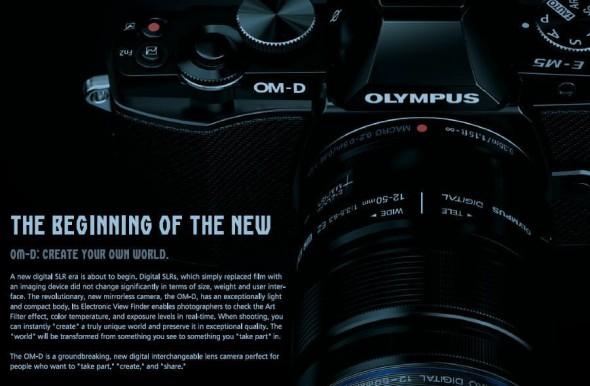 Olympus OM-D leaked brochure