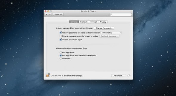 OS X Mountain Lion Gatekeeper security settings