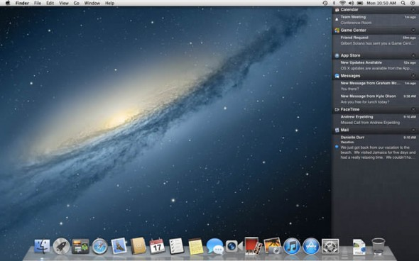 OS X Mountain Lion Notification Center