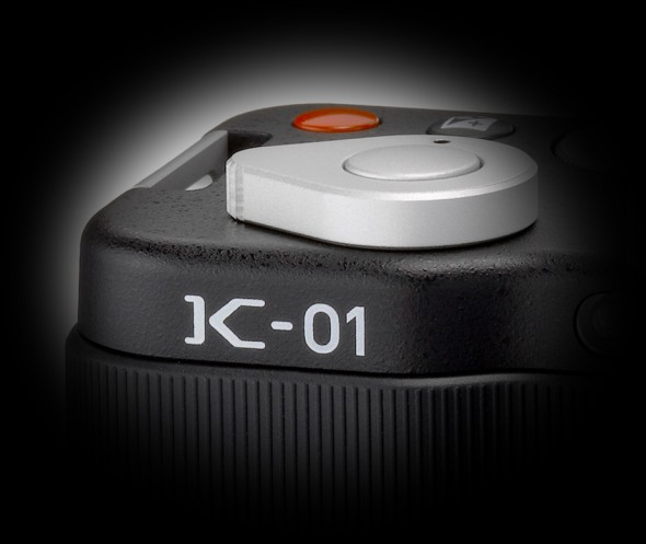 Pentax K-01 shutter button close-up