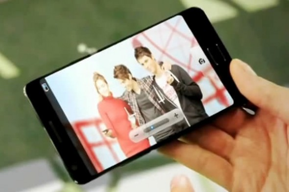 Samsung thin bezel concept smartphone in video