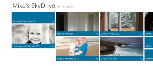 Windows 8 SkyDrive integration - Metro style app