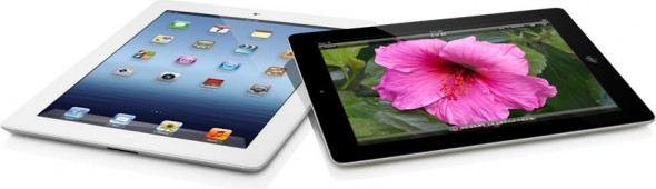 3rd generation iPad with retina display - white and black