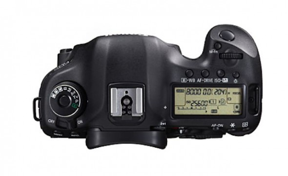 Canon EOS 5D Mark III top