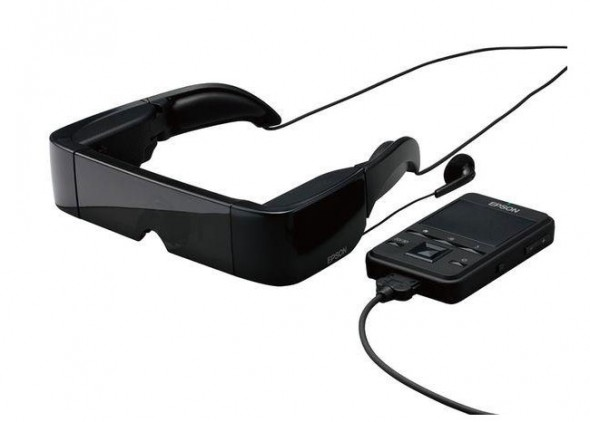 EPSON Moverio BT-100 Android 3D glasses and controller