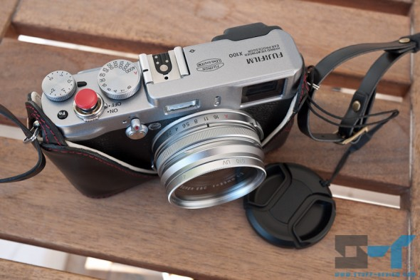 Fujifilm X100 digital camera - customized looks with Kaza case, Bop soft release and filter adaptor