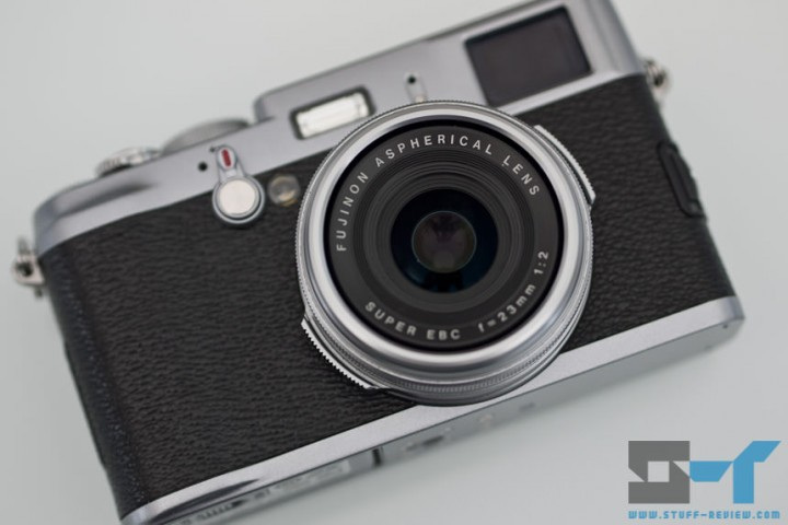 Fujifilm X100 digital camera - front lens close-up