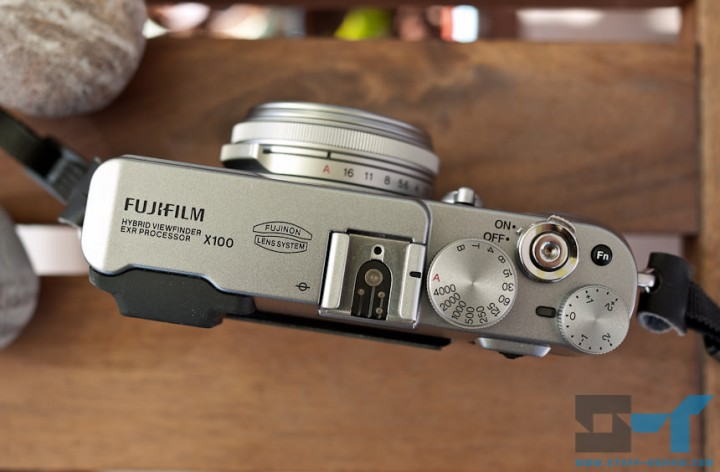 Fujifilm X100 digital camera - top dials