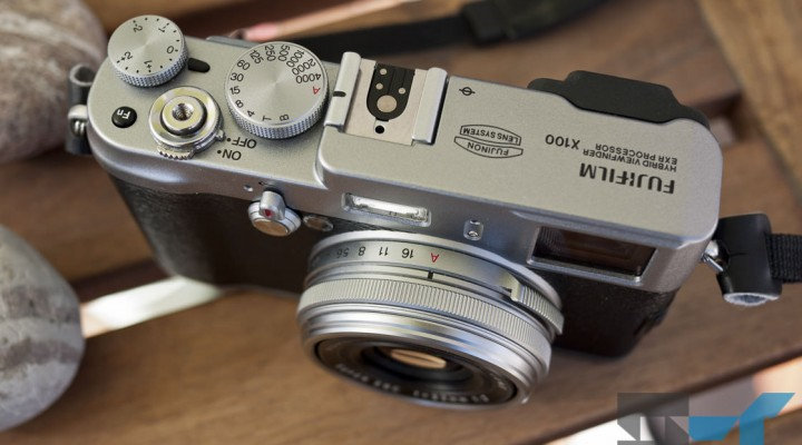 Fujifilm X100 digital camera - top front