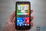 HTC Sensation running Android 4.0 ICS and Sense 3.6 homescreen