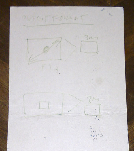 Nokia PureView idea on napkin drawing