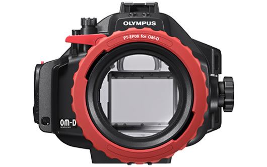 Olympus PT-EP08 underwater housing for OM-D E-M5 front