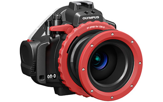 Olympus PT-EP08 underwater housing for OM-D E-M5 side