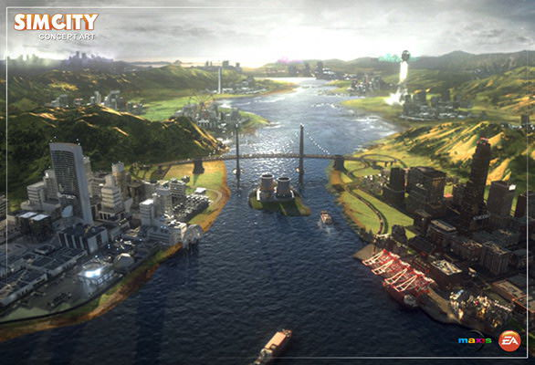 SimCity 5 concept art - bridge
