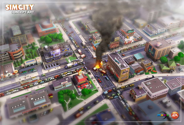SimCity 5 concept art - accident