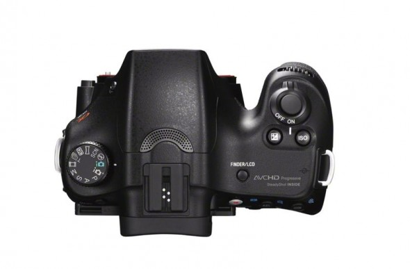 Sony SLT-A65 digital camera - top