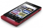 Sony Xperia Sola Android smartphone in red lying down