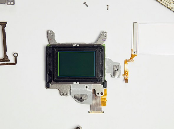 Canon 5D Mark III sensor unit and optical low-pass filter