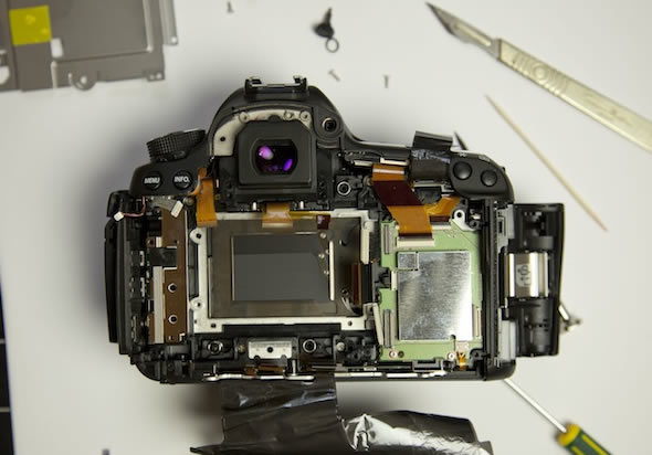 Canon 5D Mark III teardown - shutter curtain