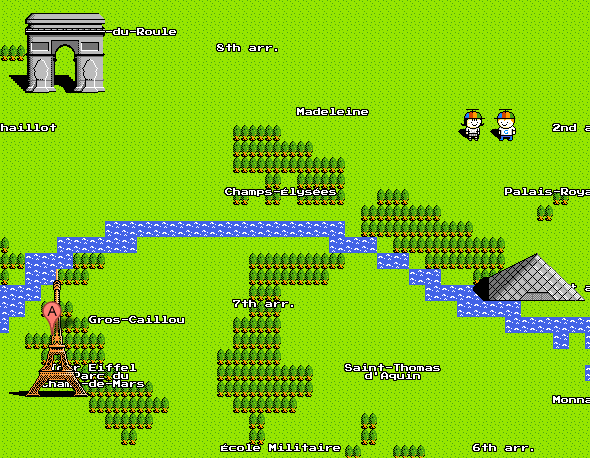 Google Maps 8-bit Paris