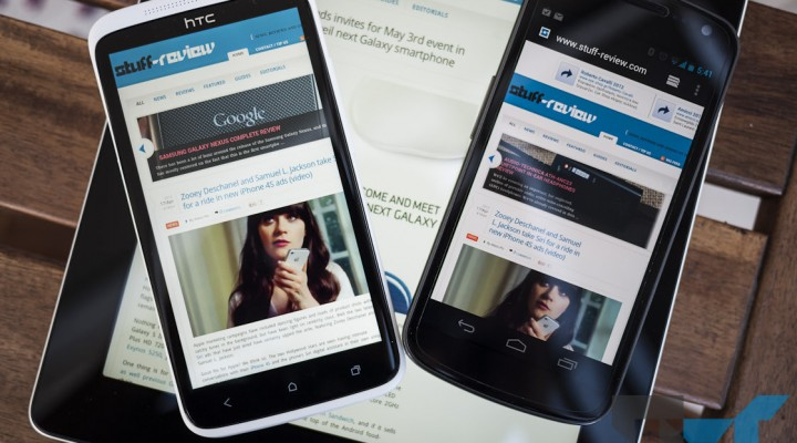 HTC One X vs. Galaxy Nexus screen