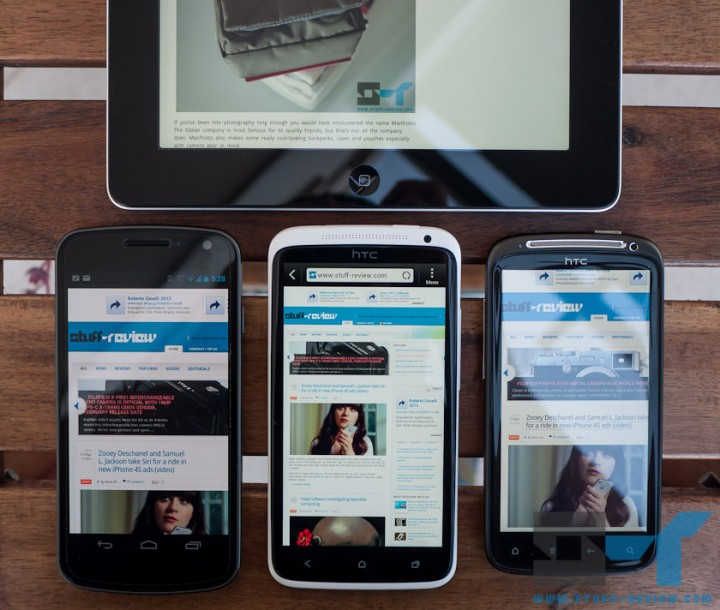 Display shootout: HTC One X vs. Galaxy Nexus vs. Sensation vs. iPad 3