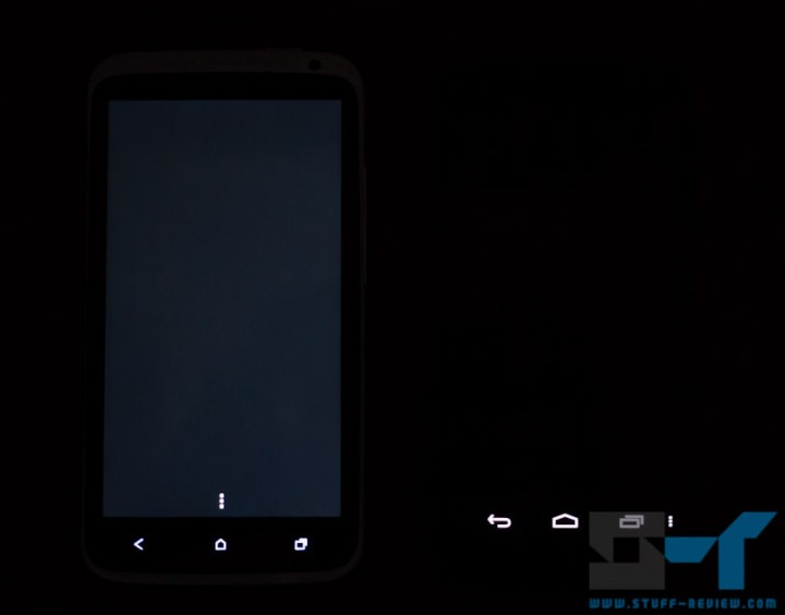 HTC One (left) X vs. Galaxy Nexus (right) display: black level