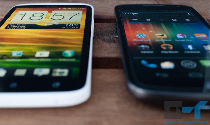 HTC One X vs. Galaxy Nexus display: extreme viewing angle