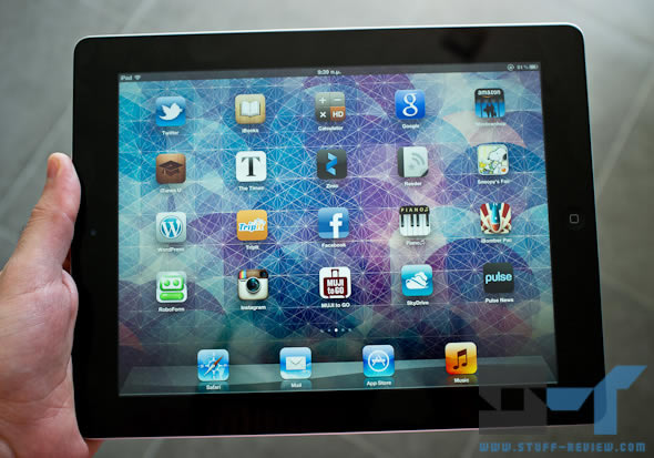 3rd generation iPad in hand - homescreen