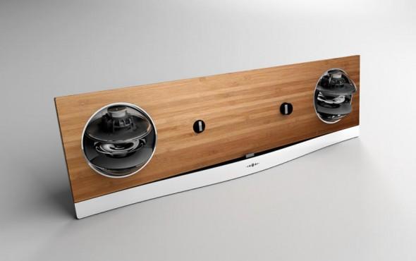 Jarre Technologies AeroPad Two iPad speaker dock in bamboo