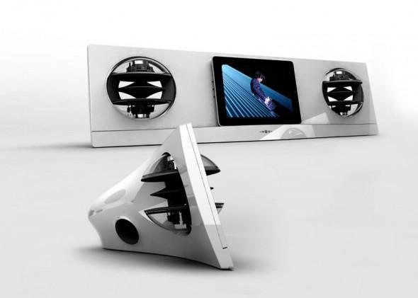 Jarre Technologies AeroPad Two iPad speaker dock in white