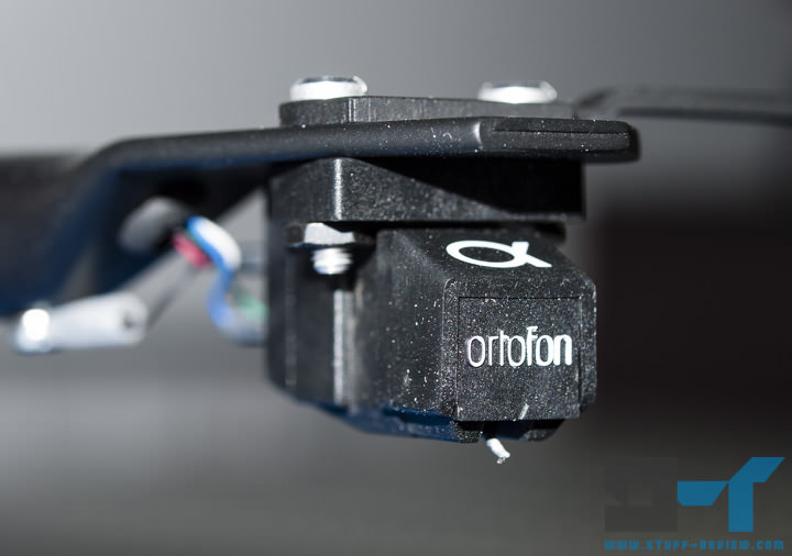 Macro shot of Ortofon phono cartridge