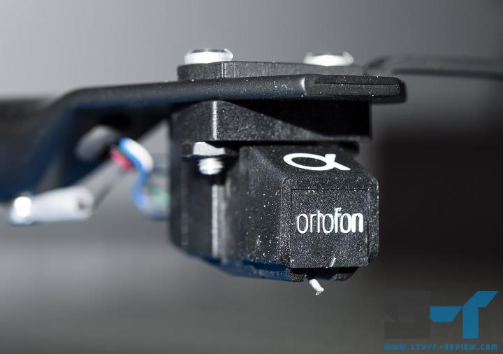Macro shot of Ortofon phono cartridge