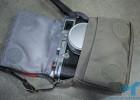 Manfrotto Nano VI camera case with Fujifilm X100 inside