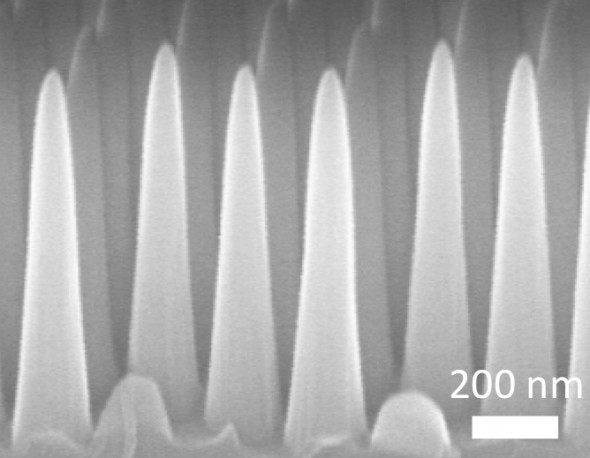 MIT developed glass with conical nanostructures