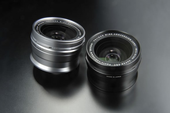 Fujifilm WCL-X100 wide angle conversion lens - silver and black