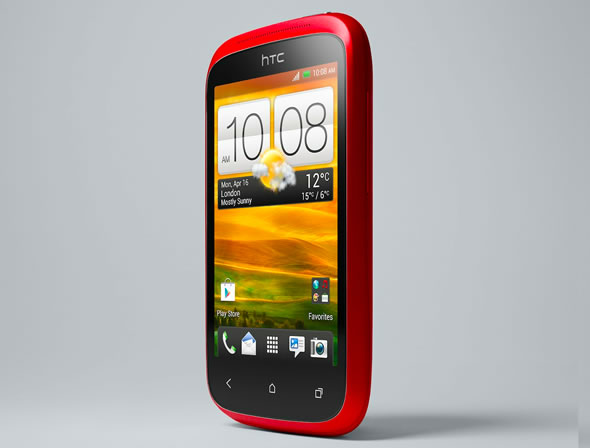 HTC Desire C red front