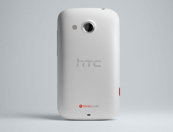 HTC Desire C white back