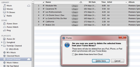 Deleting low bit rate files from iTunes