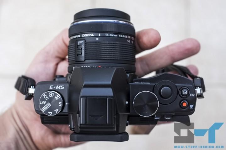 Olympus OM-D E-M5 digital camera top