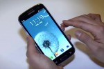 Samsung Galaxy S III in hand