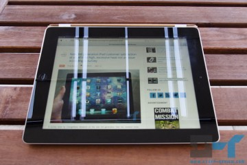 Smart Cover on the new iPad lying down - viewing angle