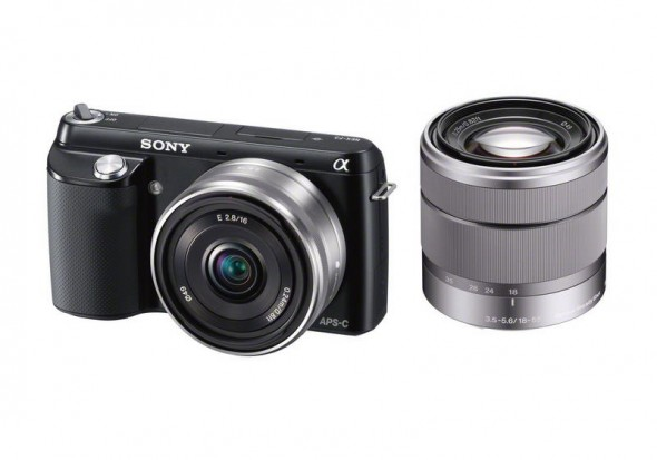 Sony NEX-F3 with pancake and zoom lenses