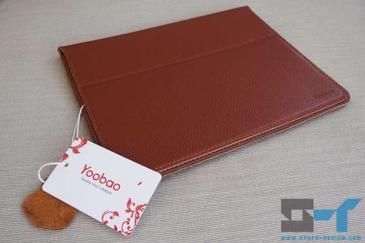 Yoobao leather case for the new iPad (2012) with tag