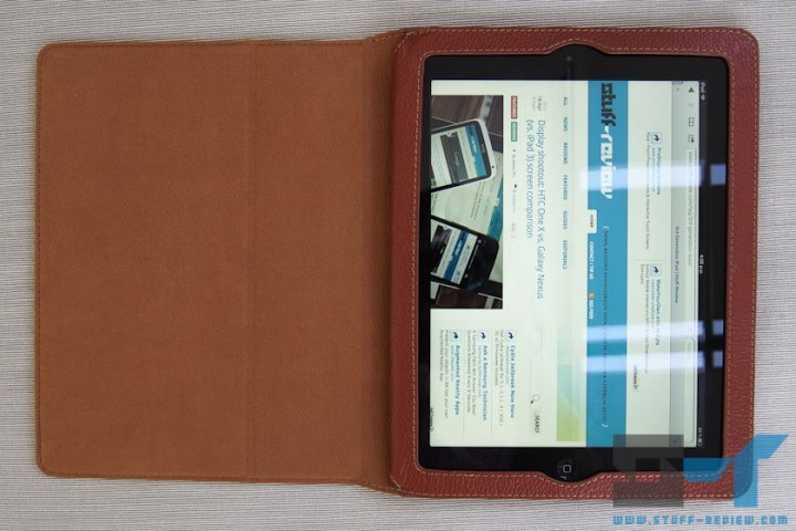 Yoobao leather case for the new iPad (2012) open