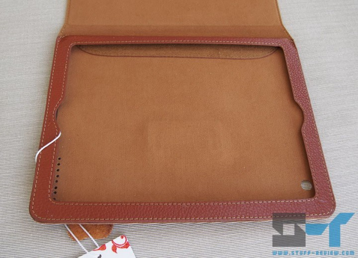 Yoobao leather case for the new iPad (2012) looking inside