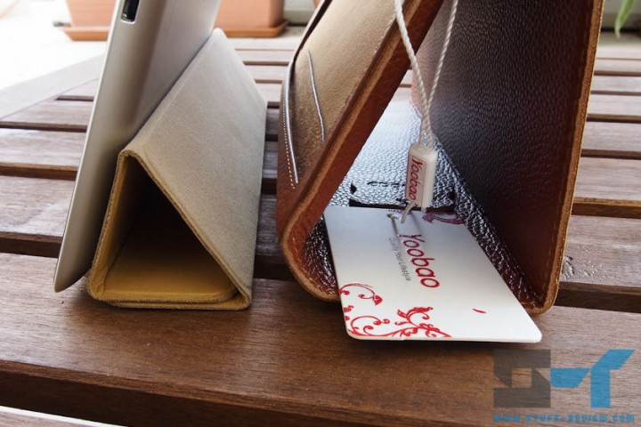 Yoobao leather case for the new iPad (2012) vs. Smart Cover vertical