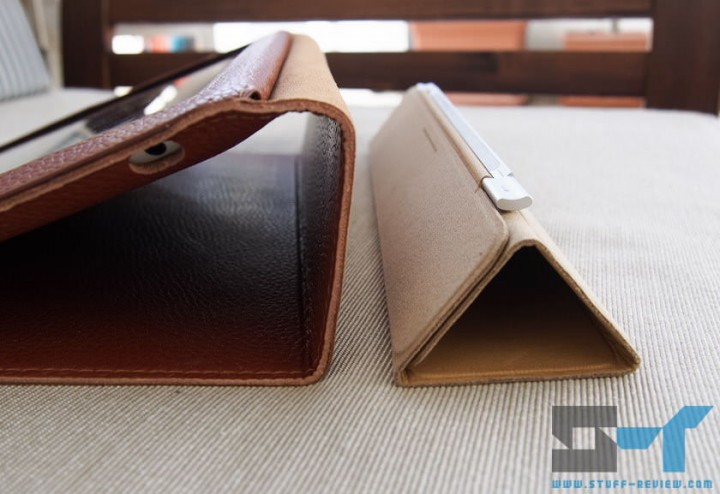 Yoobao leather case for the new iPad (2012) vs. Smart Cover horizontal